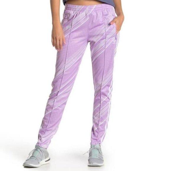Adidas DV2581 Women's SST Track Pants Purple Glow
